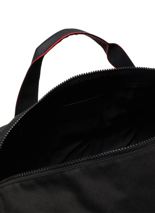 Detail View - Click To Enlarge - ALEXANDER MCQUEEN - Selvedge' logo jacquard gym bag
