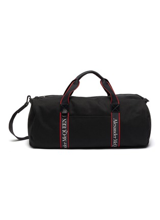 Main View - Click To Enlarge - ALEXANDER MCQUEEN - Selvedge' logo jacquard gym bag