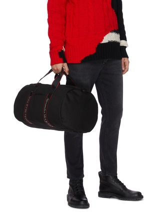 Figure View - Click To Enlarge - ALEXANDER MCQUEEN - Selvedge' logo jacquard gym bag