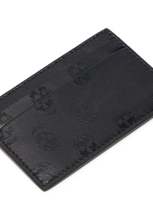 Detail View - Click To Enlarge - ALEXANDER MCQUEEN - Biker skull print leather cardholder