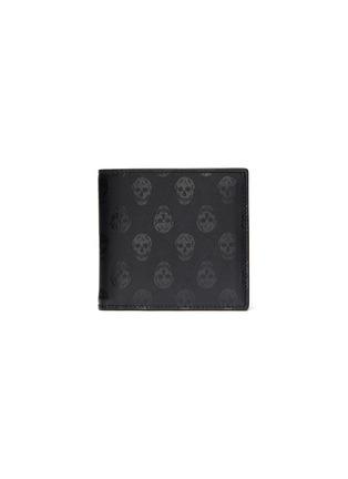 Main View - Click To Enlarge - ALEXANDER MCQUEEN - Biker skull print leather bifold wallet