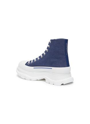- ALEXANDER MCQUEEN - 'Tread Slick' contrast sole denim high top sneakers