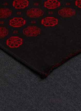 Detail View - Click To Enlarge - ALEXANDER MCQUEEN - Floral Pattern Wool Scarf