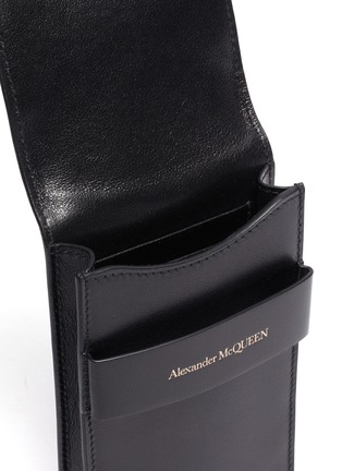 Detail View - Click To Enlarge - ALEXANDER MCQUEEN - Small leather phone pouch