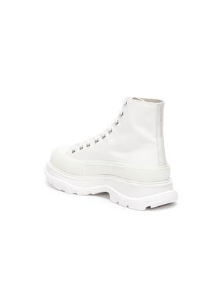 - ALEXANDER MCQUEEN - Tread' contrast sole canvas high top sneakers
