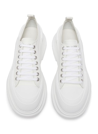 Detail View - Click To Enlarge - ALEXANDER MCQUEEN - Tread' contrast sole canvas sneakers