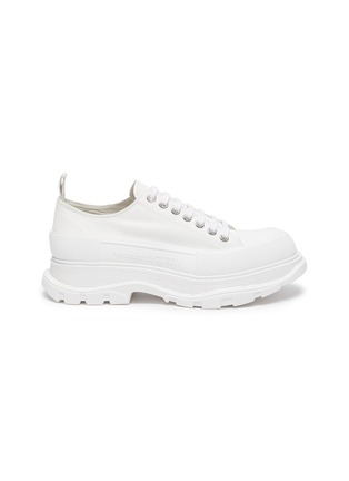 Main View - Click To Enlarge - ALEXANDER MCQUEEN - Tread' contrast sole canvas sneakers