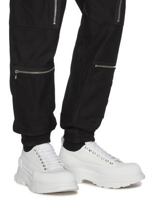 Figure View - Click To Enlarge - ALEXANDER MCQUEEN - Tread' contrast sole canvas sneakers