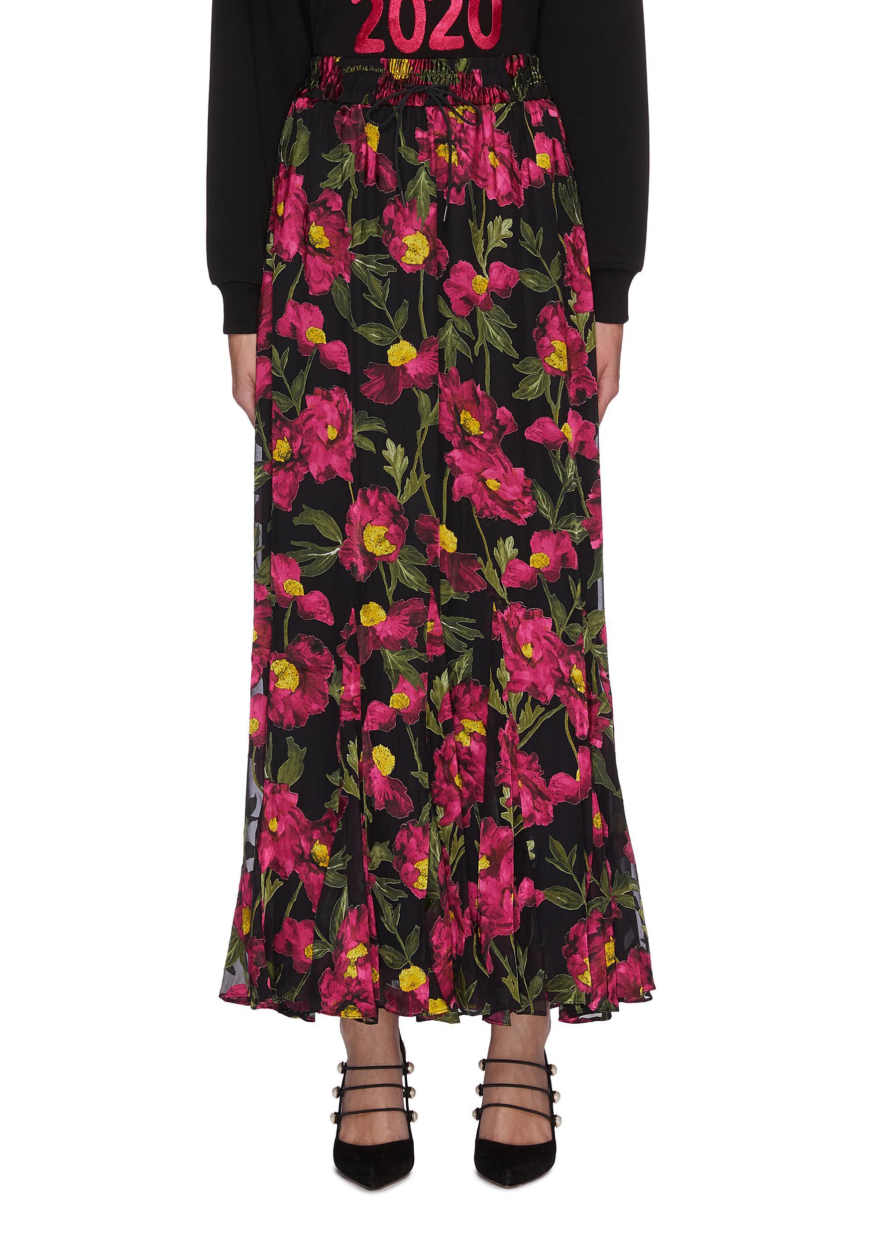 ELZA' Floral Print Maxi Skirt - ALICE + OLIVIA - Modalova