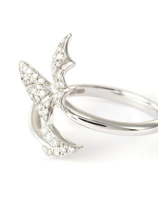 Detail View - Click To Enlarge - STEPHEN WEBSTER - 'Fly by Night' Diamond 18k white gold open band pavé ring