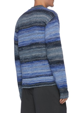 Back View - Click To Enlarge - ACNE STUDIOS - Striped lightweight cotton blend sweater
