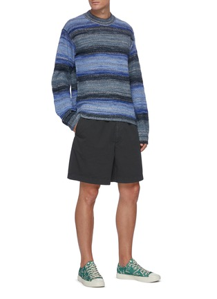 Figure View - Click To Enlarge - ACNE STUDIOS - Striped lightweight cotton blend sweater