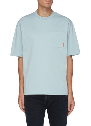 Main View - Click To Enlarge - ACNE STUDIOS - Pink Label Pocket Cotton T-shirt
