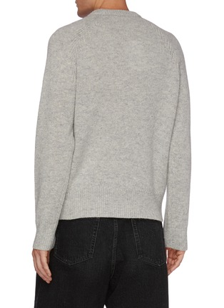 Back View - Click To Enlarge - ACNE STUDIOS - Embroidered Logo Wool Sweater