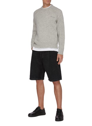 Figure View - Click To Enlarge - ACNE STUDIOS - Embroidered Logo Wool Sweater
