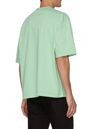 Back View - Click To Enlarge - ACNE STUDIOS - Chest Logo Cotton T-shirt