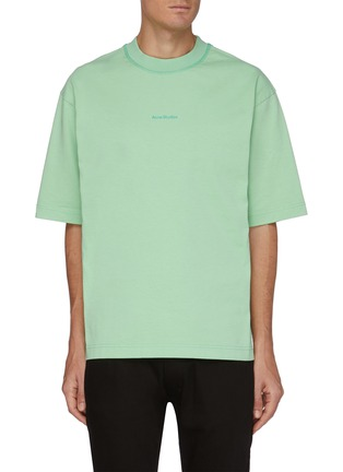 Main View - Click To Enlarge - ACNE STUDIOS - Chest Logo Cotton T-shirt