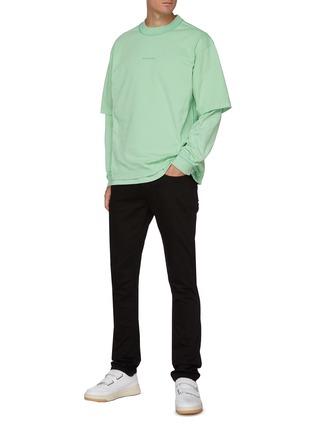 Figure View - Click To Enlarge - ACNE STUDIOS - Chest Logo Cotton T-shirt