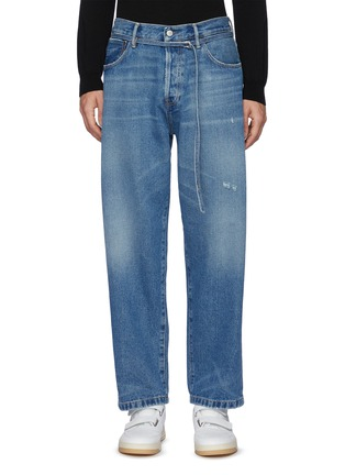 Main View - Click To Enlarge - ACNE STUDIOS - Belted High Rise Whiskered Denim Jeans