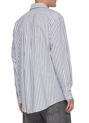 Back View - Click To Enlarge - ACNE STUDIOS - Striped logo print shirt