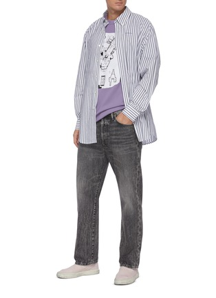 Figure View - Click To Enlarge - ACNE STUDIOS - Striped logo print shirt
