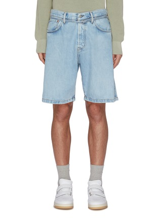 Main View - Click To Enlarge - ACNE STUDIOS - Belted denim shorts