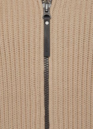 - ACNE STUDIOS - High Neck Full Zip Rib Knit Jacket