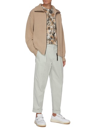 Figure View - Click To Enlarge - ACNE STUDIOS - High Neck Full Zip Rib Knit Jacket