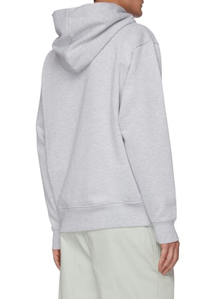 Back View - Click To Enlarge - ACNE STUDIOS - Pink Label Cotton Blend Hoodie