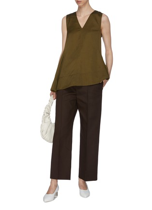 Figure View - Click To Enlarge - JIL SANDER - Straight leg suiting pants