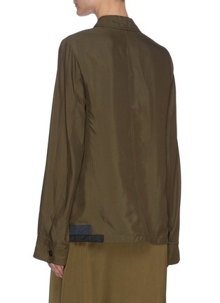 Back View - Click To Enlarge - JIL SANDER - Patch Pocket Button Down Shirt Jacket