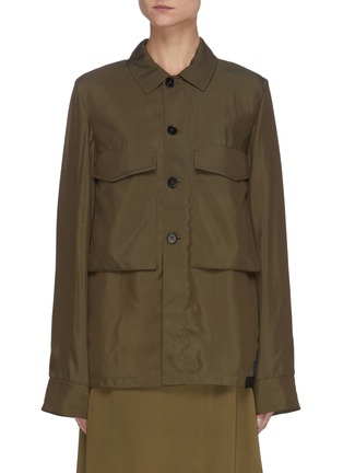Main View - Click To Enlarge - JIL SANDER - Patch Pocket Button Down Shirt Jacket