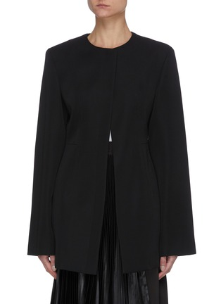 Main View - Click To Enlarge - JIL SANDER - Round neck tailored jacket