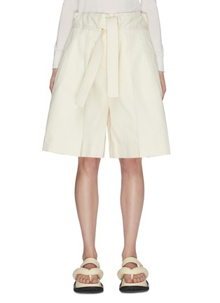 Main View - Click To Enlarge - JIL SANDER - Belted wide leg gathered shorts