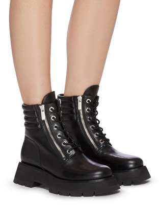Figure View - Click To Enlarge - 3.1 PHILLIP LIM - 'KATE' Lug Sole Leather Combat Boots