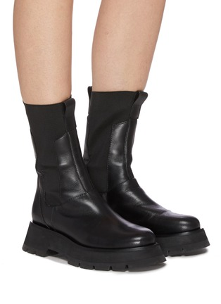 Figure View - Click To Enlarge - 3.1 PHILLIP LIM - KATE' Lug Sole Leather Chelsea Boots