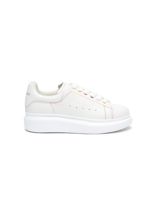 Main View - Click To Enlarge - ALEXANDER MCQUEEN - KIDS OVERSIZED SNEAKER' IN LEATHER