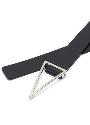 Detail View - Click To Enlarge - BOTTEGA VENETA - Triangle buckle leather belt