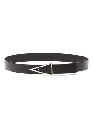 Main View - Click To Enlarge - BOTTEGA VENETA - Triangle buckle leather belt