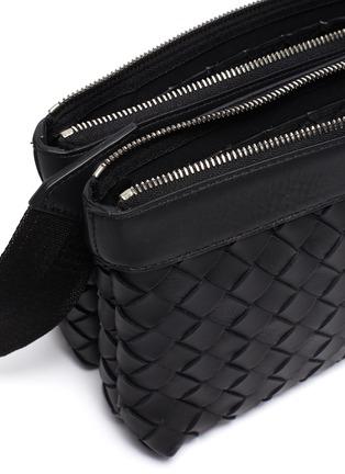 Detail View - Click To Enlarge - BOTTEGA VENETA - Two pouch intrecciato leather messenger bag