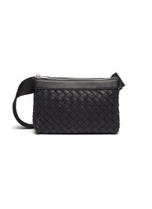 Main View - Click To Enlarge - BOTTEGA VENETA - Two pouch intrecciato leather messenger bag