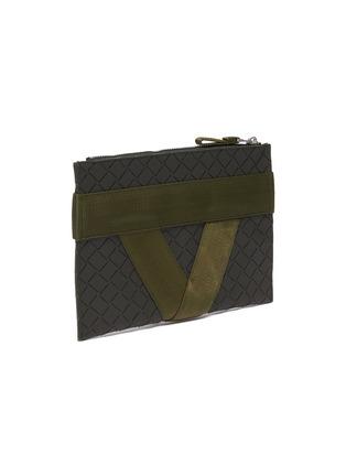 Detail View - Click To Enlarge - BOTTEGA VENETA - Textile panel textured rubber medium pouch