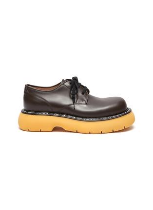 Main View - Click To Enlarge - BOTTEGA VENETA - Platform Tread Sole Leather Derby Shoes