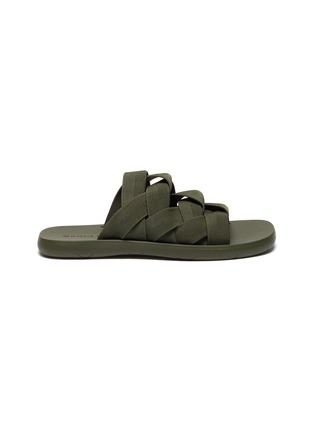 Main View - Click To Enlarge - BOTTEGA VENETA - Intrecciato strap sandals