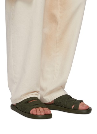 Figure View - Click To Enlarge - BOTTEGA VENETA - Intrecciato strap sandals