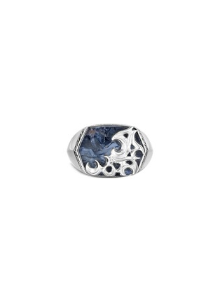 Main View - Click To Enlarge - JOHN HARDY - 'Classic Chain' Keris Dagger pietersite sterling silver ring