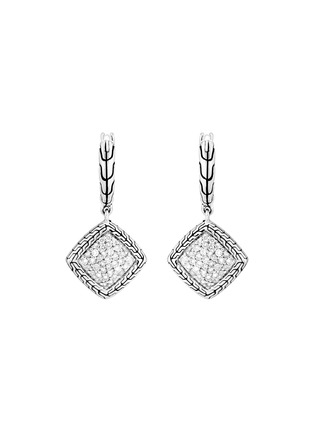 Main View - Click To Enlarge - JOHN HARDY - 'Classic Chain' diamond sterling silver earrings