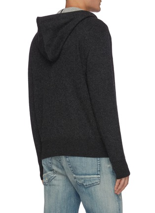 Back View - Click To Enlarge - RAG & BONE - 'Venture' cashmere zip up hoodie