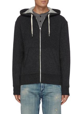 Main View - Click To Enlarge - RAG & BONE - 'Venture' cashmere zip up hoodie