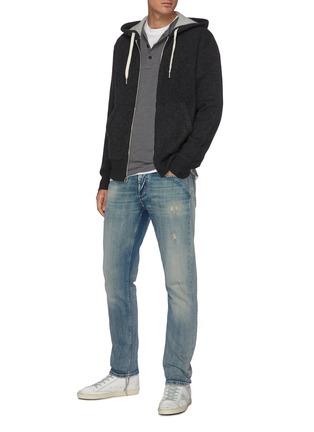 Figure View - Click To Enlarge - RAG & BONE - 'Venture' cashmere zip up hoodie